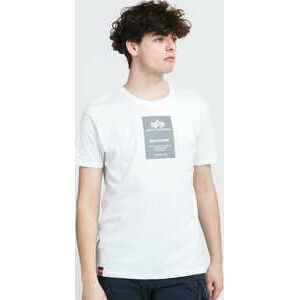 Alpha Industries Reflective Label Tee bílé XXL