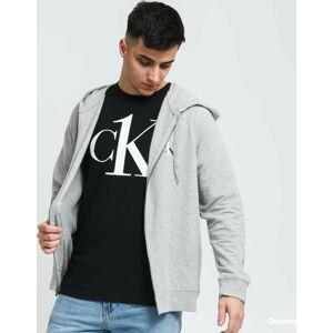Calvin Klein CK ONE Full Zip Hoodie C/O melange šedá XL
