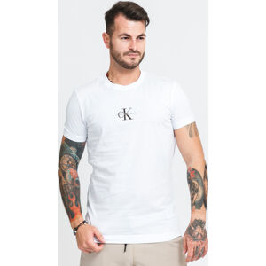 CALVIN KEIN JEANS New Iconic Essential Tee bílé
