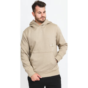 CALVIN KEIN JEANS Off Placed Iconic Hoodie béžová