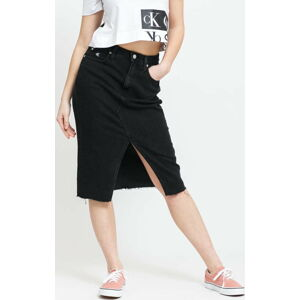 CALVIN KLEIN JEANS W High Rise Midi Skirt denim black 30
