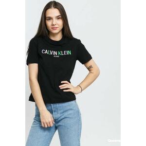 CALVIN KLEIN JEANS W Multicolored Logo Tee černé XL