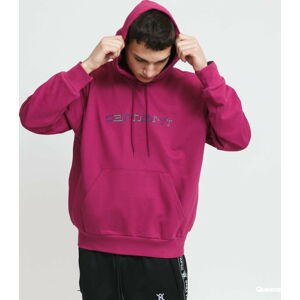 Carhartt WIP Hooded Shadow Script Sweat růžová XL