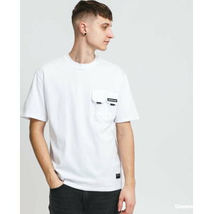 CATERPILLAR Double Pocket Tee bílé XL