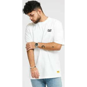 CATERPILLAR Small Logo Tee bílé XL