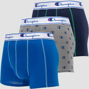 Champion Boxery Leg Mix 3Pack šedé / navy / modré XXL