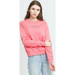 Champion Crewneck Sweatshirt melange růžová S