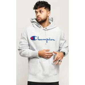 Champion Hooded Sweatshhirt melange šedá S