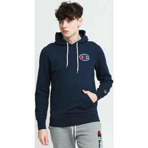Champion Satin C Logo Cotton Terry Hoodie navy XL