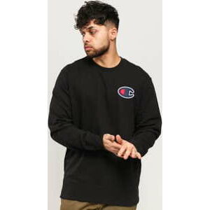 Champion Satin C Logo Cotton Terry Sweatshirt černá XL