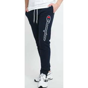 Champion Satin Script Logo Cotton Terry Joggers navy XL