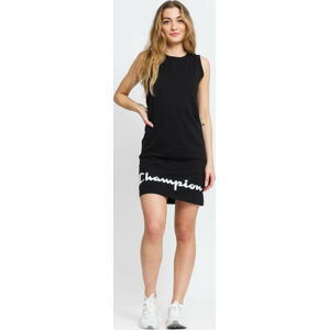 Champion Script Logo Ribbed Trim Dress černé L