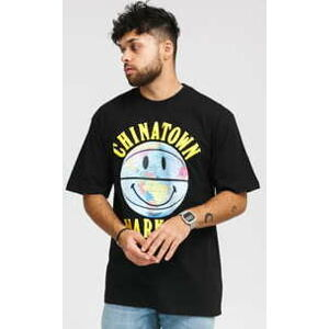 Chinatown Market Smiley Globe Ball Tee černé XL