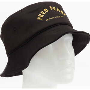 FRED PERRY Arch Branded Tricot Bucket Hat černý L