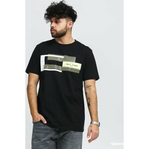 FRED PERRY Mixed Graphic Tee černé XL