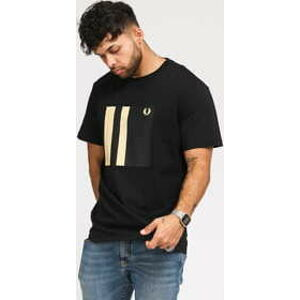 FRED PERRY Tipped Graphic Tee černé L