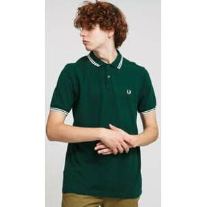 FRED PERRY Twin Tipped Fred Perry Shirt tmavě zelené XL