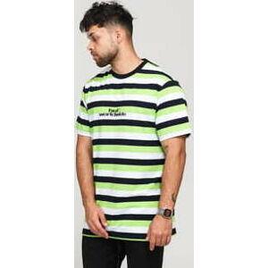 HUF Cruz SS Knit Shirt bílé / čené / zelené XL