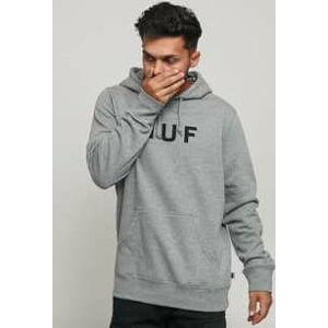 HUF Essentials OG Logo PO Hoodie melange šedá XL