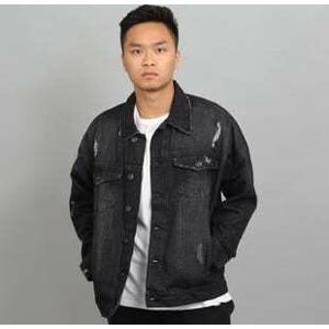 Urban Classics Ripped Denim Jacket black XXL