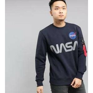 Alpha Industries NASA Reflective Sweater navy S