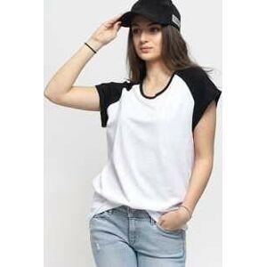 Urban Classics Ladies Contrast Raglan Tee bílé / černé XL