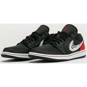 Jordan 1 Low SE black / white - university red EUR 47