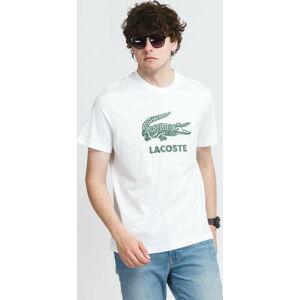 LACOSTE Big Crocodile Logo Tee bílé XL