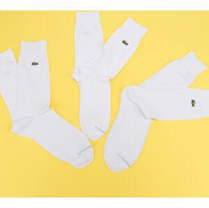 LACOSTE Cotton Blend Sock 3-Pack bílé