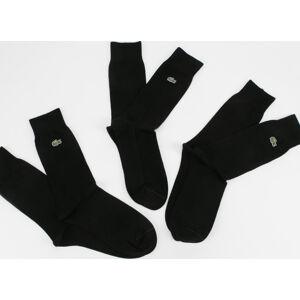 LACOSTE Cotton Blend Sock 3-Pack černé
