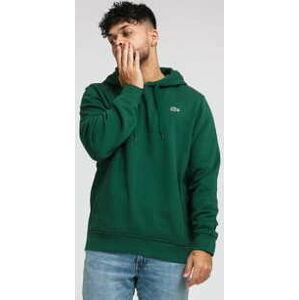 LACOSTE Hooded Fleece Sweatshirt tmavě zelená XL
