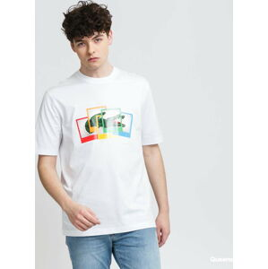 LACOSTE Lacoste LIVE x Polaroid Loose Fit Cotton T-shirt bílé S