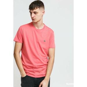 LACOSTE Men's T-Shirt tmavě růžové XL