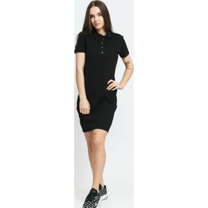 LACOSTE Piqué Polo Dress černé L