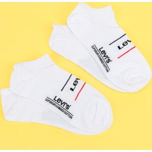 Levi's ® 2Pack Low Cut Sport Socks bílé / černé