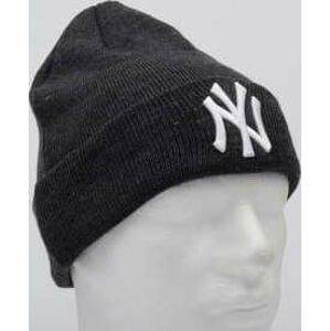 New Era MLB League Essential Cuff Knit NY tmavě šedý