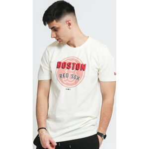 New Era MLB Heritage Graphic Tee Red Sox krémové XL