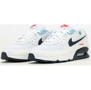 Nike Air Max 90 white / midnight navy - chile red EUR 47.5