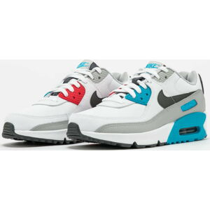 Nike Air Max 90 Leather (GS) white / irongrey - chlorine blue EUR 40