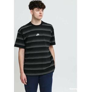 Nike M NSW Tee Premium Essential Stripe černé M