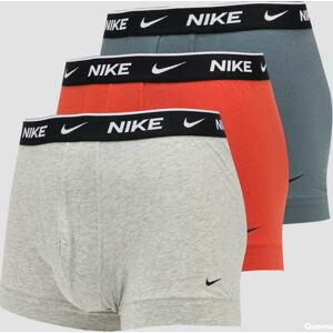 Nike Trunk 3Pack oranžové / melange šedé / tmavě šedé