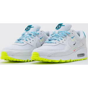 Nike W Air Max 90 Worldwide white / white - blue fury - volt EUR 41
