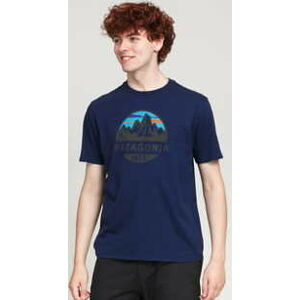 Patagonia M's Fitz Roy Scope Organic T­Shirt navy L