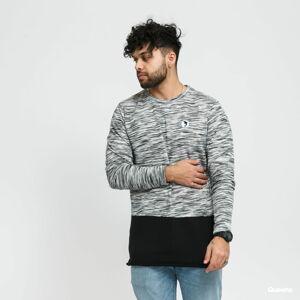 Pink Dolphin Marble Weave Lightweight Sweater šedý / bílý / černý XXL