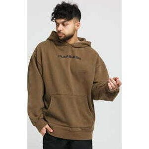 PLEASURES Burn Out Dyed Hoody khaki M