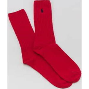 Polo Ralph Lauren Classic Cotton Crew Socks červené
