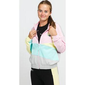 Puma International Track Jacket TR růžová / žlutá / mentolová / šedá