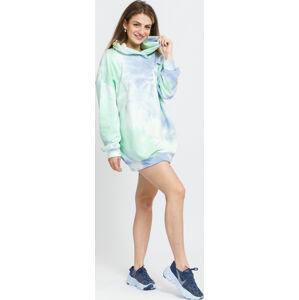 ixth June Tie Dye Hoodie Dress modré / zelené /bílé