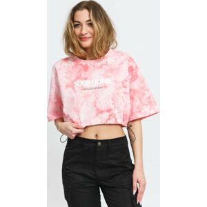 Sixth June W Tie Dye Crop Top růžové L