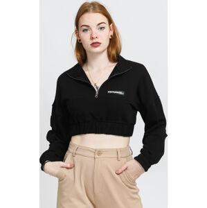 Sixth June Zip Up Crop Sweatshirt černá